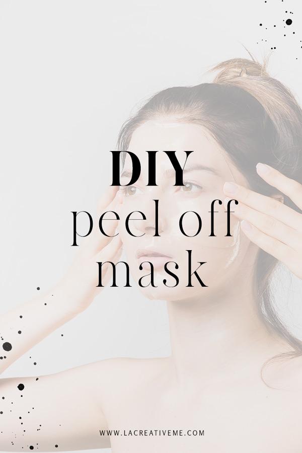 DIY Peel off μάσκα προσώπου