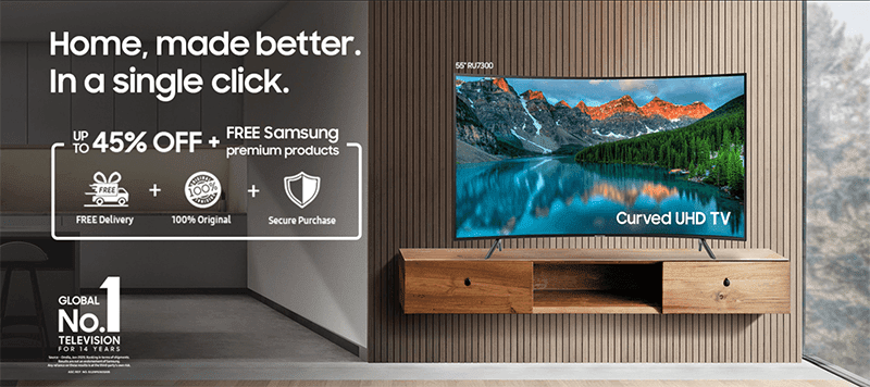 Samsung Online Store now has TVs and other Smart Home Appliances