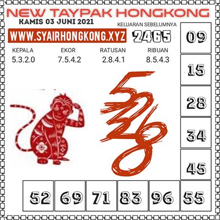 Prediksi New Taypak Hongkong Kamis 03 Juni 2021