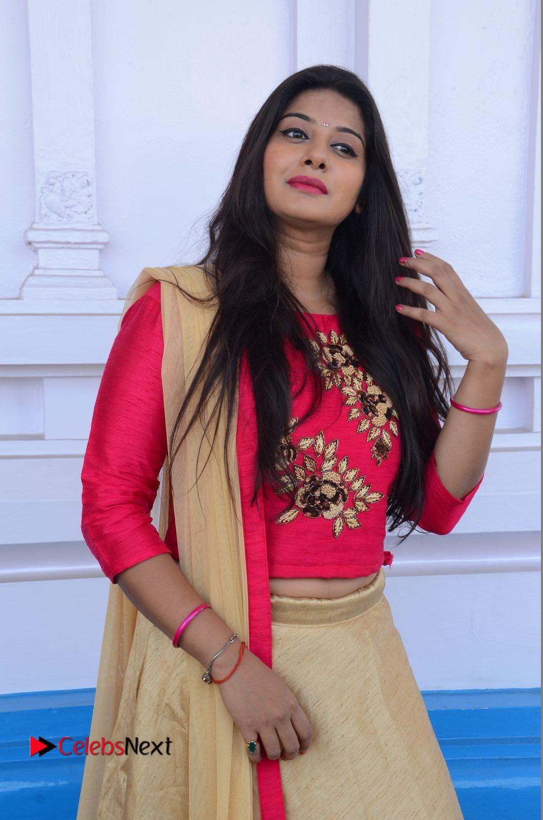Sruthi Stills in Half Saree at Mahalakshmi Movie Opening