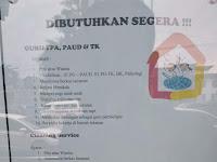 Lowongan kerja GURU TPA, PAUD & TK dan Cleaning Service - Loker di Padang