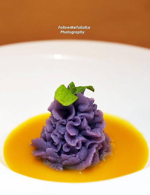 Purple Sweet Potato With Pumpkin Cream RM 10