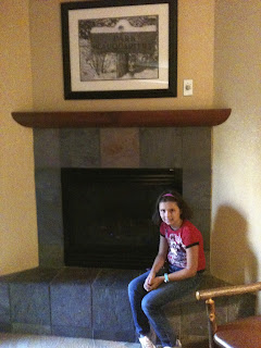 Fireplace in our room at the Bear Skin Lodge in Gatlinburg, Tennessee