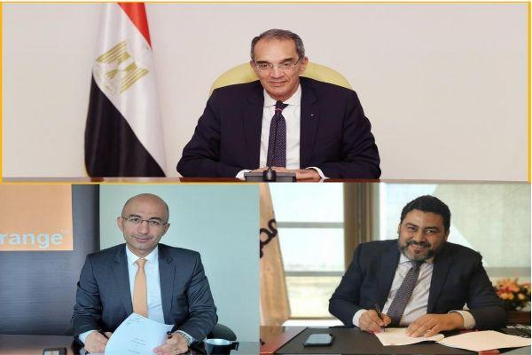 """المصرية للاتصالات توقع عددا من الاتفاقيات التجارية مع """"أورنج مصر"""""""