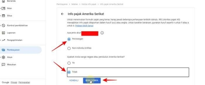 Cara Mengisi Formulir Pajak Google Adsense