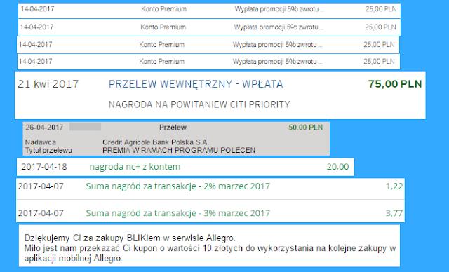Wpływy z zarabiania na bankach - marzec 2017 r.