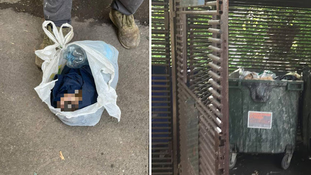 В Москве в мусорном контейнере нашли завёрнутого в куртку и пакет младенца