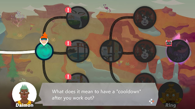 Ring  Fit Adventure World 15 Quizton cooldown after work out Daimon