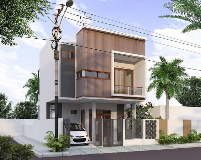 Rumah Minimalis 2 Lantai Modern Tampak Depan Terbaru 2020