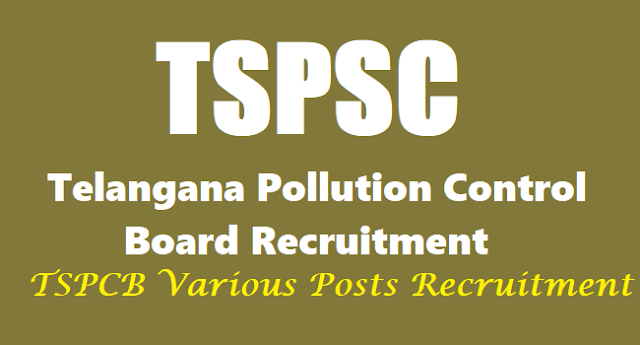 TSPSC,Telangana Pollution Control Board Recruitment,PCB Hall Tickets