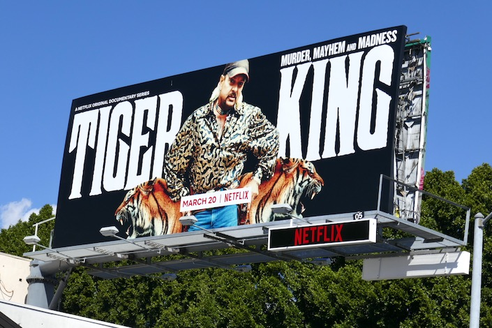 Tiger King documentary billboard