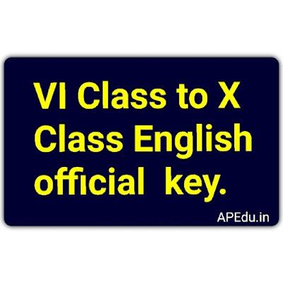 VI Class to X Class English official  key