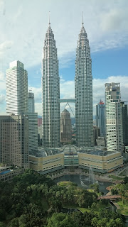 Best view Petronas Twin Towers SkyBar Traders Hotel Kuala Lumpur