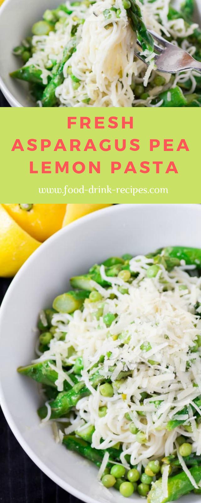Fresh Asparagus Pea Lemon Pasta -  food-drink-recipes.com