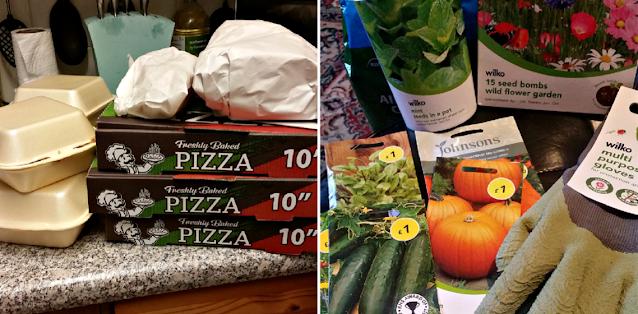 Takeaway and gardening supplies
