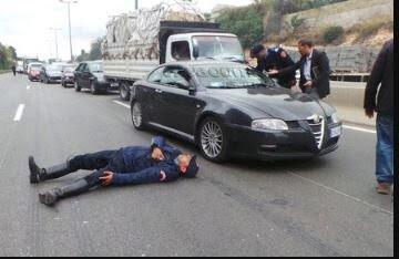 سائق شاحنة يدهس ضابط أمن و يرسله إلى المستشفى بين الحياة والموت والجاني يلود بالفرار