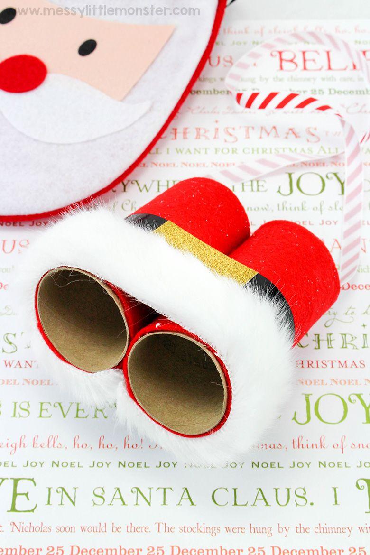 Santa binoculars craft