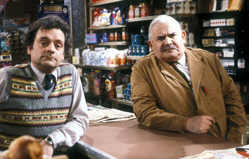 internet shopping - David Jason and Ronnie Barker in Open All Hours