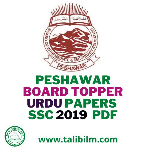 Peshawar Board Topper Urdu Papers SSC