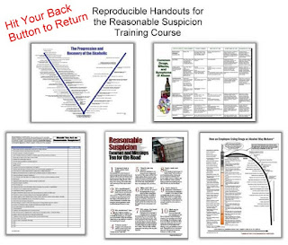 handouts displayed for viewer on reasonable suspicion training