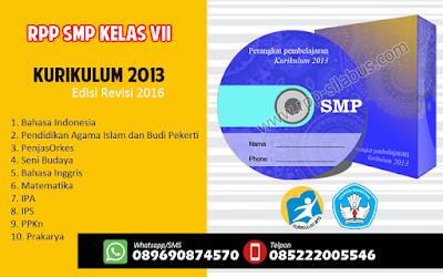 RPP SMP Kelas VII Kurikulum 2013 Edisi Revisi 2016