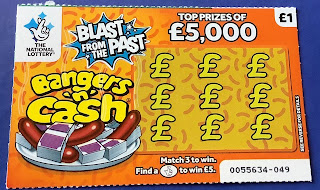£1 Bangers 'n' Cash Scratchcard from the National Lottery