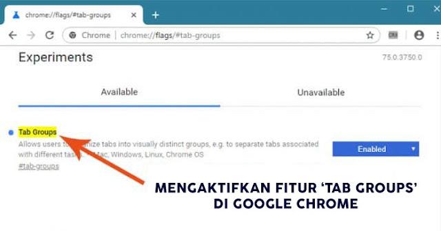 "Aktifkan Fitur Canary ""Tab Groups"" di Chrome"