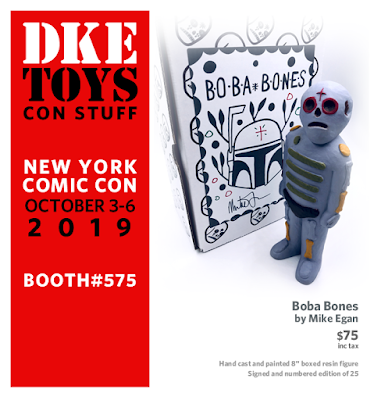 New York Comic Con 2019 Exclusive Boba Bones Resin Figure by Mike Egan x DKE Toys
