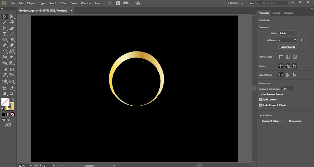 Golden Logo in Adobe Illustrator
