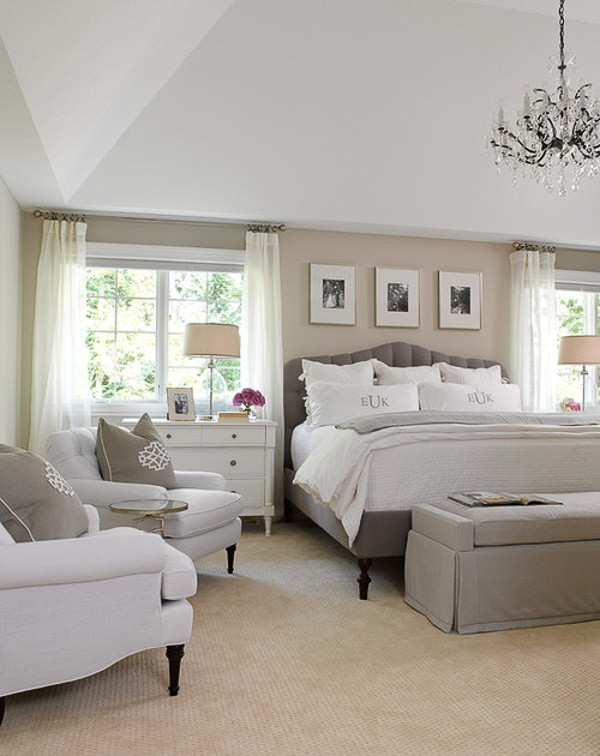 pretty bedroom with Sherwin Williams Agreeable Gray Walls
