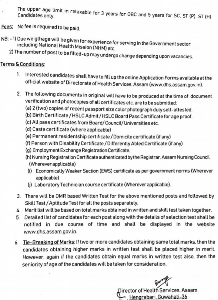 directorate of health services, assam recruitment 2019  directorate of health services assam (dhs)  directorate of health services (family welfare) assam admit card  directorate of health services assam result  dhs assam admit card  assam career  www.dhs.assam.gov.in online apply  www.dhsfw.assam.gov.in result 2020  dhs assam recruitment  dee assam  dhs assam recruitment 2020  name of director of health services, assam,Jobs, Jobs In Assam, DHS Assam Latest Recruitment Notification, Staff Nurse Jobs,