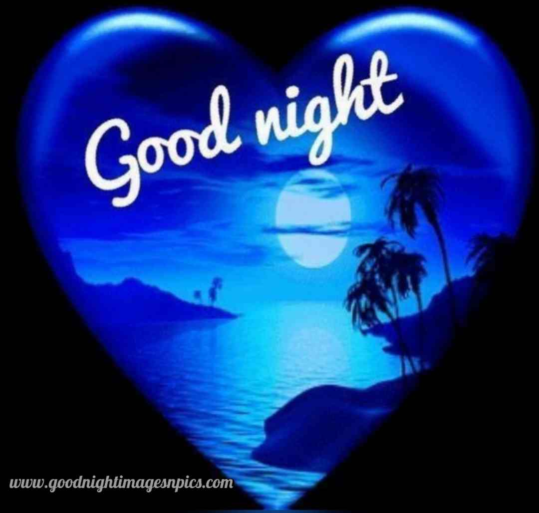 Lovely Good Night Heart Images Download HD