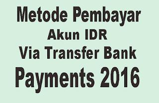 Metode pembayaran Adsense IDR via transfer Bank