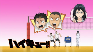 Hellominju.com: ハイキュー!! アニメ   烏野アイキャッチ 第1期 清水潔子   西谷 夕   田中龍之介   Haikyū!! Commercial Break    Hello Anime !