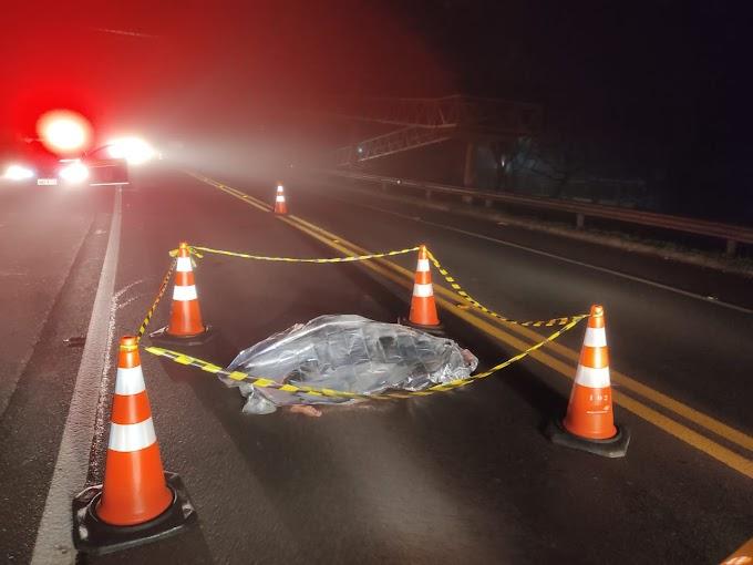 Mulher é atropelada e morre na BR 277 em Cantagalo