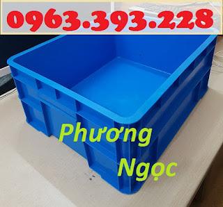 Sóng nhựa đặc B8, thùng nhựa đặc B8, hộp nhựa có nắp, thùng đựng linh kiện TNB8