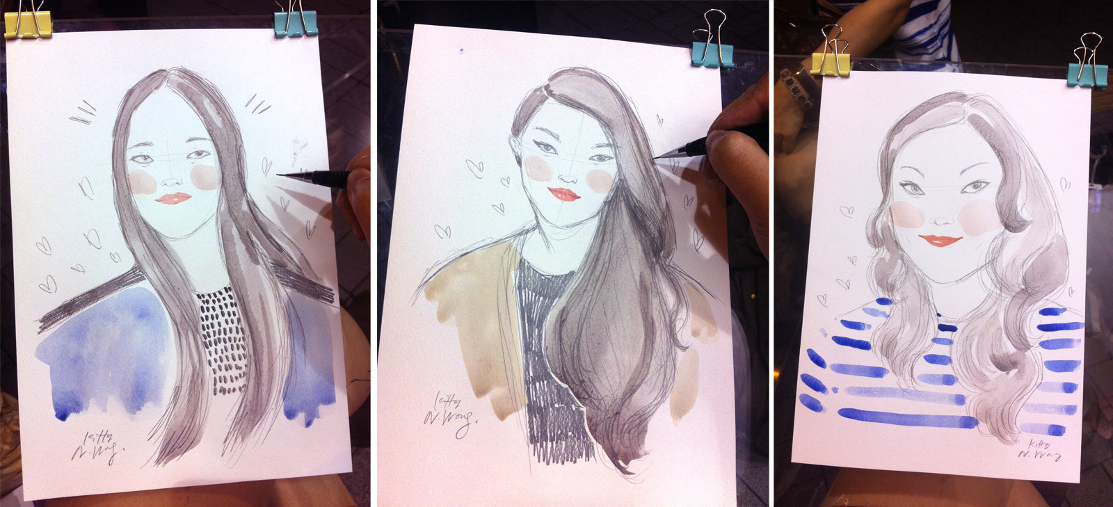 Kitty N. Wong / Live Draw Samples