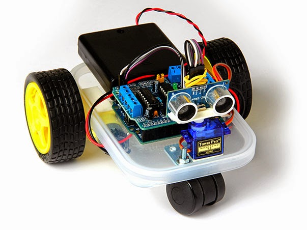 Compile the microbot source code into the Arduino board Robot