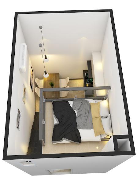 Thiết kế căn hộ mini Sài Gòn Hoàng Anh