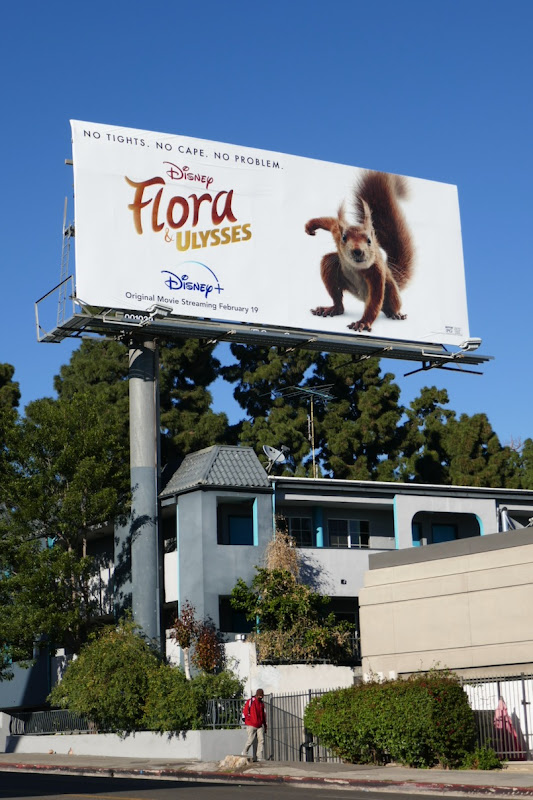 Flora & Ulysses film billboard