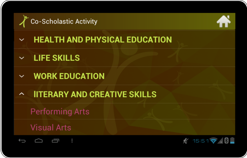 CCE App Student co-scholasticdetails
