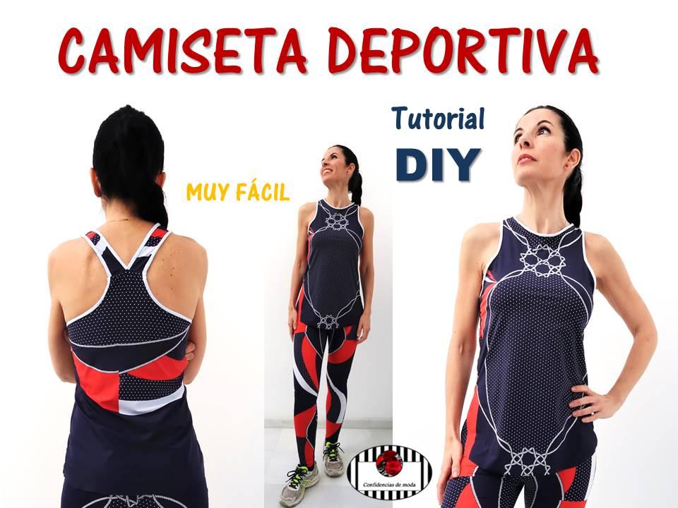 923ef533ac Cómo hacer una camiseta deportiva. Tutorial DIY. MUY FÁCIL. Sin patrones (sin  moldes)