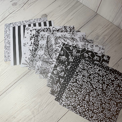 These look like Black & White Prints; they're really Silver Foil & White