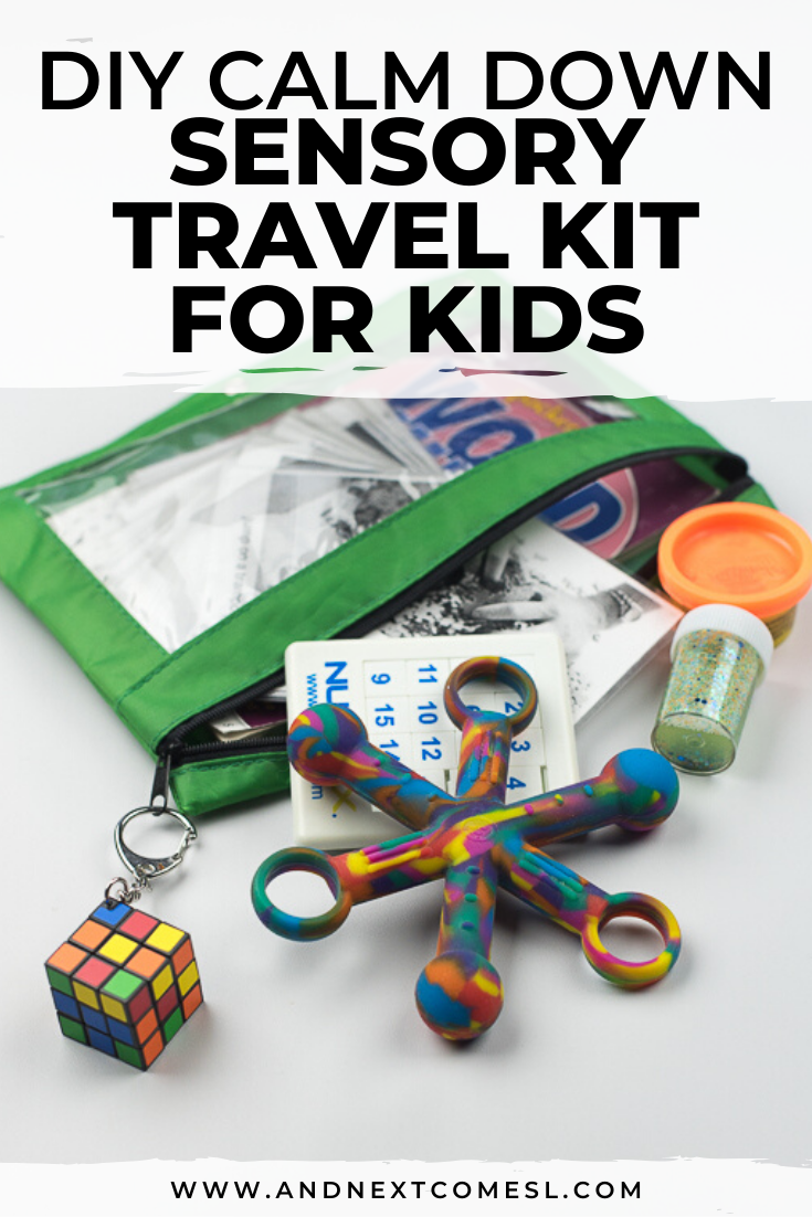 Sensory/autism travel kit for kids - a calm down kit that kids can take on the go!