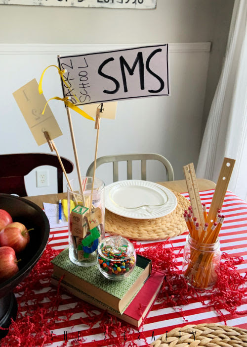 Table Decor for Back to School Dinner