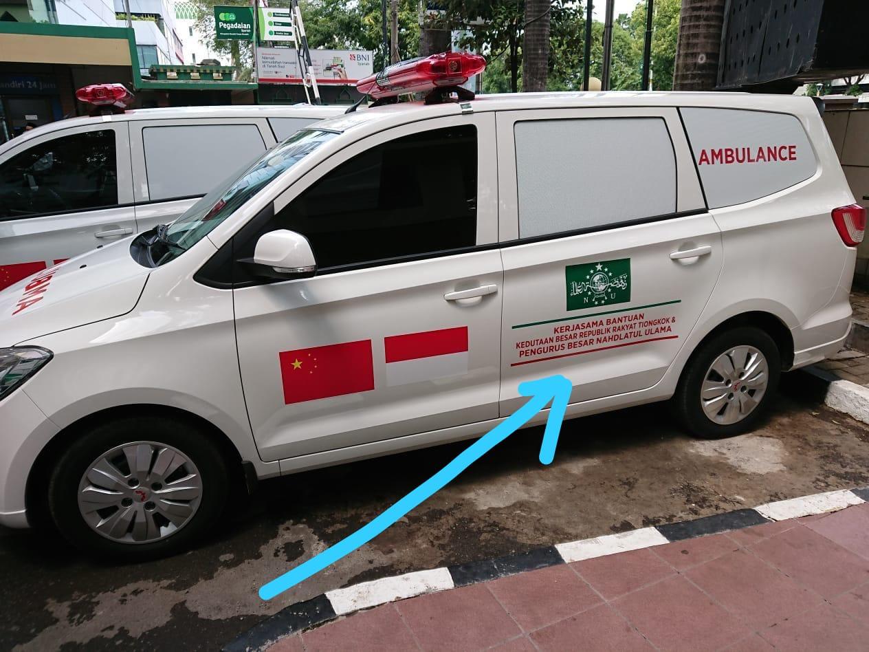 Ada Mobil Berbendera China di Kantor PBNU