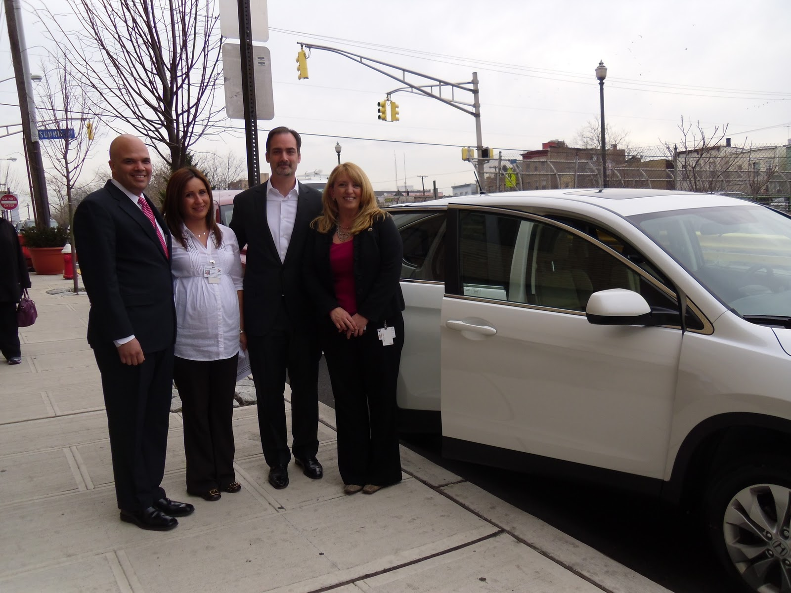 Yesterday Our General Manager Chris Tropiano Presented The North Hudson Community Action Corporation Nhcac With A Brand New White 2017 Honda Cr V On