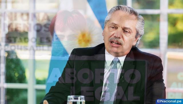 Alberto Fernández impulsa la legalización del aborto en Argentina.