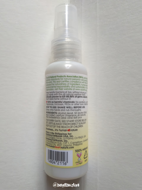 Human Nature All-natural Sanitizer Review   Healthbiztips