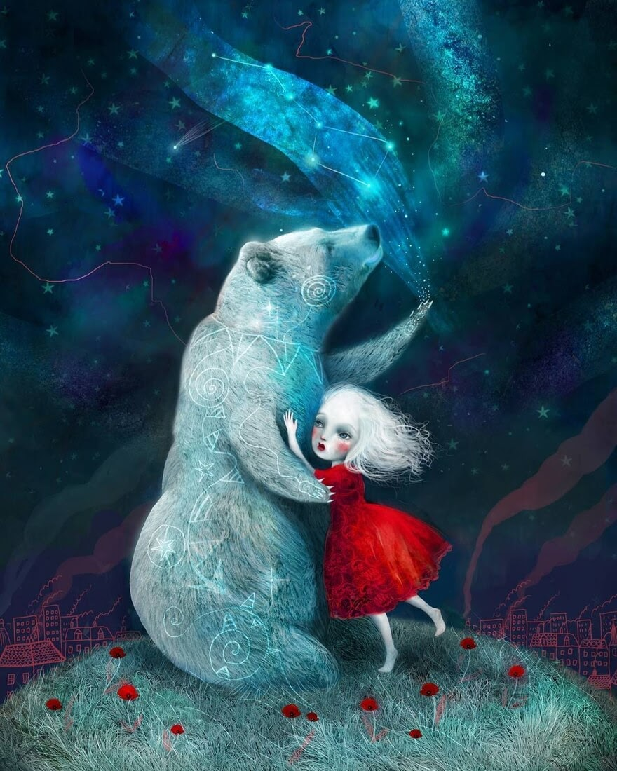 11-Star-Bear-Watched-over-Her-Lisa-Falzon-Fantasy-Digital-Art-with-a-Sprinkle-of-Surrealism-www-designstack-co